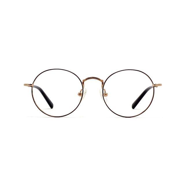 【親子系列】MASUKU復古圓形金屬眼鏡架(兒童) FMS-2195P