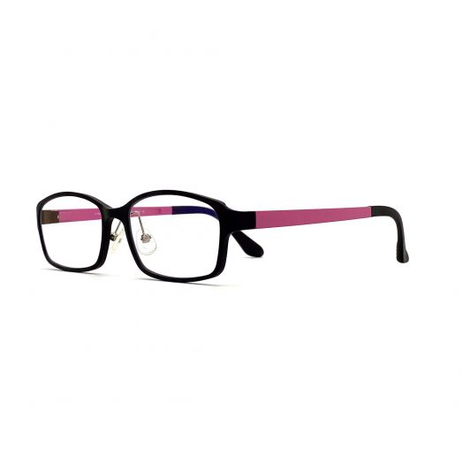 interlude Blue Block Glasses FIT-1637RP2-Matte Black Frame With Pink Temples