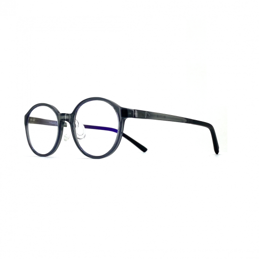 interlude Blue Block Glasses For Kids FIT-2033R-Transparent Gray Frame With Gray Temple