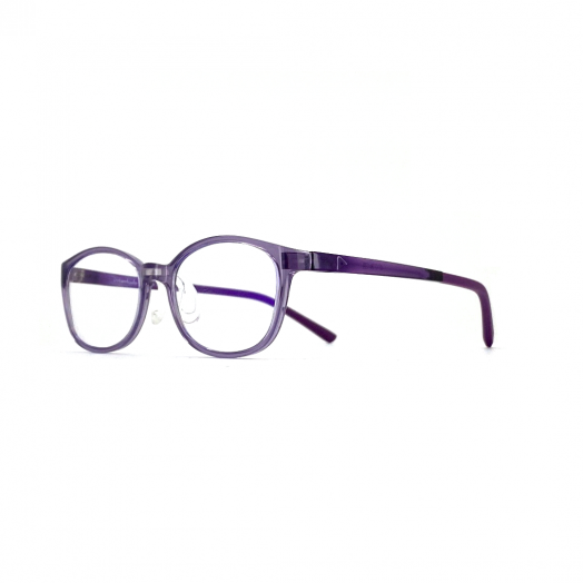 interlude Blue Block Glasses For Kids FIT-2034R-Transparent Purple Frame With Purple Temple