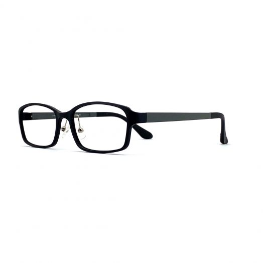 interlude Blue Block Glasses FIT-1637RP2-Matte Black Frame With Gray Temples