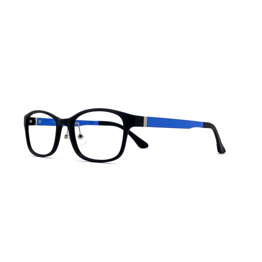 interlude Blue Block Glasses FIT-1936RP/FIT-1636RP2-Matte Black Frame With Blue Temples