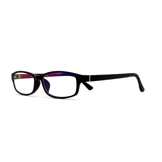 interlude Blue Block Glasses For Kids FIT-1840RP-Black Frame With Black/Wine Temples