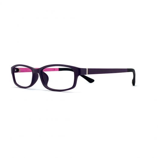 interlude Blue Block Glasses For Kids FIT-1840RP-Purple Frame With Purple/Pink Temples