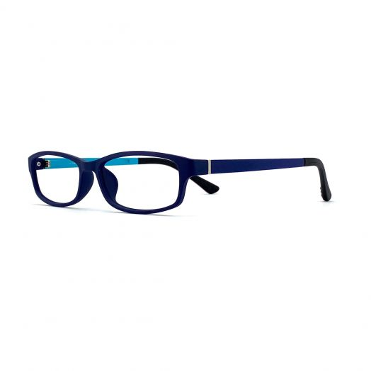 interlude Blue Block Glasses For Kids FIT-1840RP-Navy Blue Frame With Navy/Blue Temples