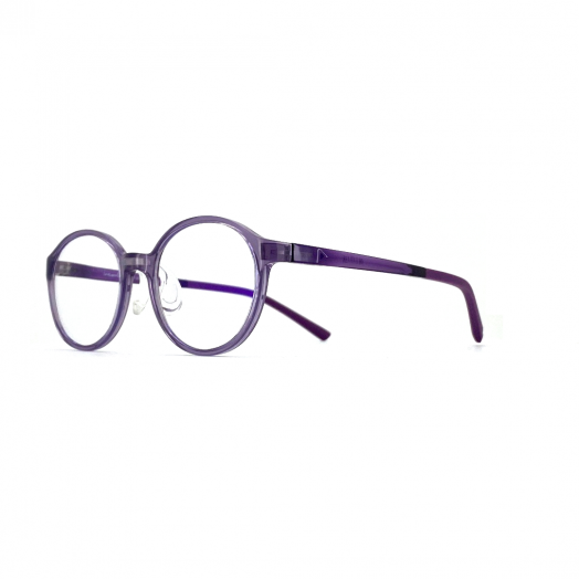 interlude Blue Block Glasses For Kids FIT-2033R-Transparent Purple Frame With Purple Temple