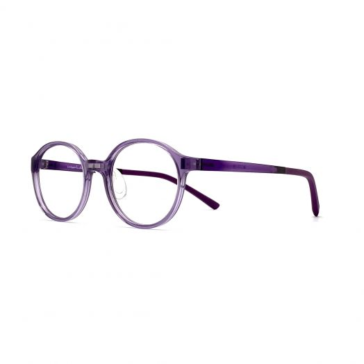 interlude Glasses For Kids FIT-2133P-Transparent Purple Frame With Purple Temple