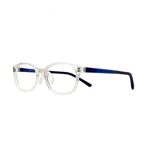 interlude Glasses For Kids FIT-2134P-Transparent Frame With Navy Blue Temple