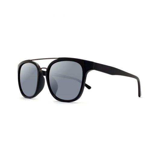 MyOB Stylish Sunglasses SMYB-1807-Piano Black Frame With Gray Lens