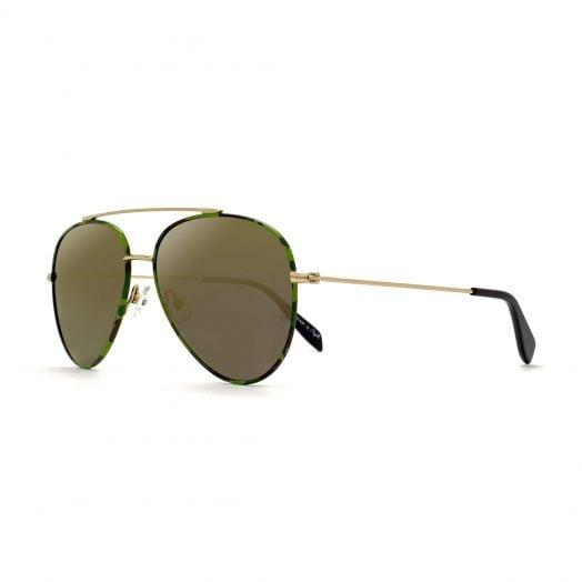 【Parent-Child Models】MyOB Hot Classics Aviator Sunglasses SMYB-1811-Green Frame With Brown Lens