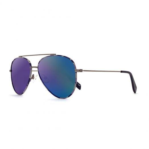 【Parent-Child Models】MyOB Hot Classics Aviator Sunglasses SMYB-1811-Silver Frame With Green Lens