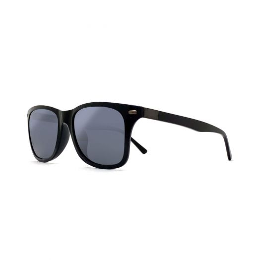 MyOB Classic Titanium Sunglasses / SMYB-1813-Piano Black Frame With Gray Lens