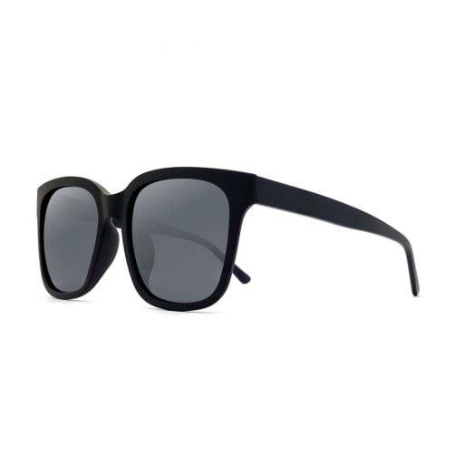 MyOB Polarized Classic Sunglasses SMYB-1812-Matte Black Frame With Gray Lens