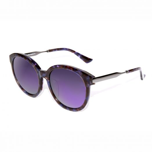 SOLVIL ET TITUS Fashion Round Mirrored Lens Sunglasses STS-1702-Purple