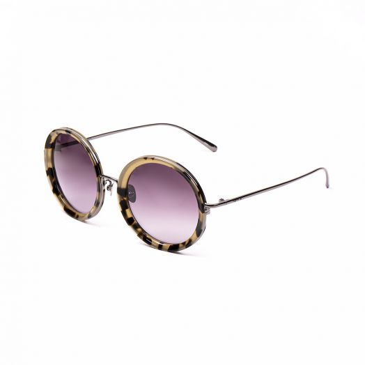 AGNES B SUNGLASSES SNE-AB30004-C02-Brown Frame With Purple Lens