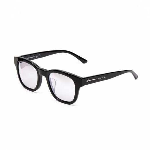 AGNES B SUNGLASSES SNE-AB20008-Black Frame With Gray Mirror Lens