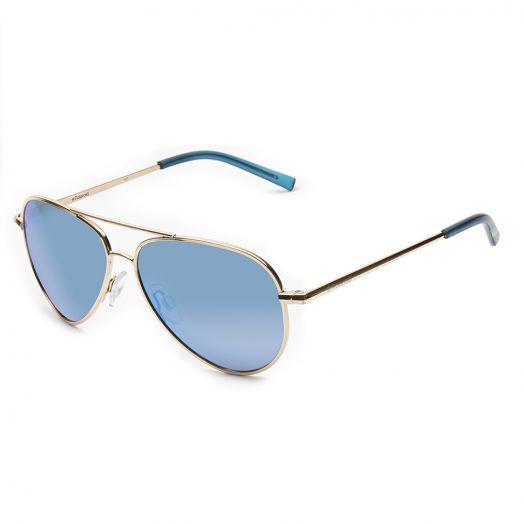 POLAROID KID SUNGLASSES - 8015N -Golden Frame With Blue Lens