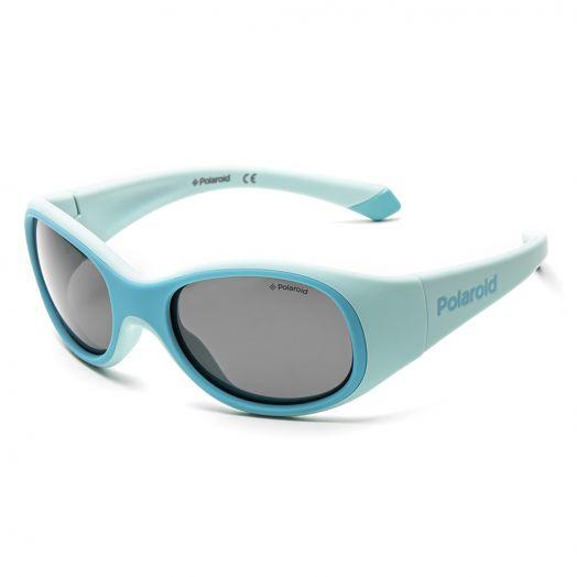 POLAROID SUNGLASSES - 8038S -Blue Frame With Gray Lens