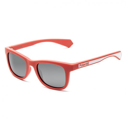 POLAROID SUNGLASSES - 8031S-Red Frame With Gray Lens