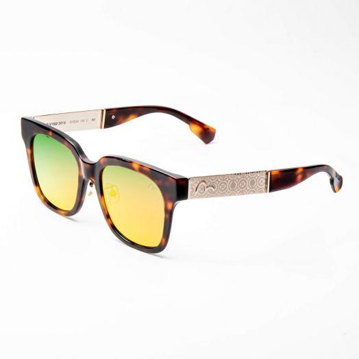 EVISU SUNGLASSES - 2016-Brown Frame With Orange Lens