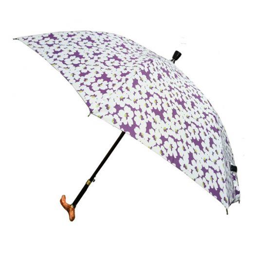 调高式自动手杖雨伞/拐杖伞/手杖伞-花朵缤纷
