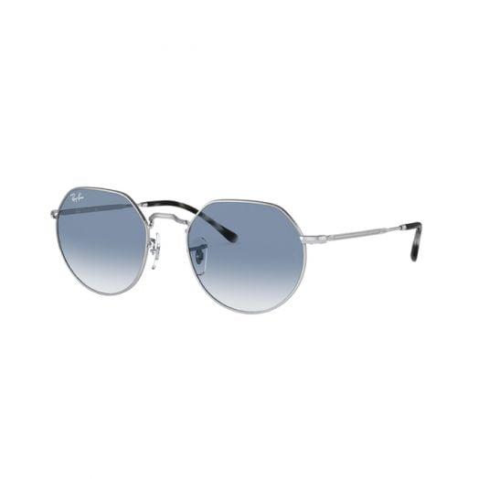 Ray Ban JACK 太陽眼鏡 銀色框/藍色鏡 RB3565 003/3F 53-26