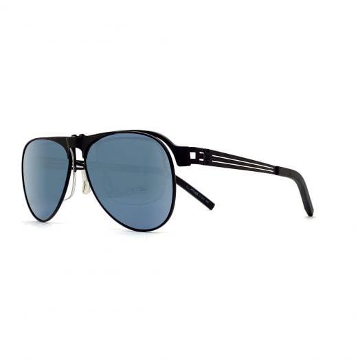 LAB Stylish Mirror Aviator Sunglasses SLAB-1801-Black Frame With Silver Lens