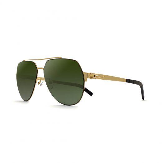 LAB Stylish Mirror Aviator Sunglasses SLAB-1901-Gold Frame With Oilve Lens