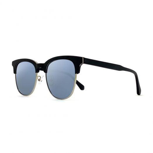MyOB Vintage Stylish Sunglasses SMYB-1808-Black Frame With Light Gray Lens