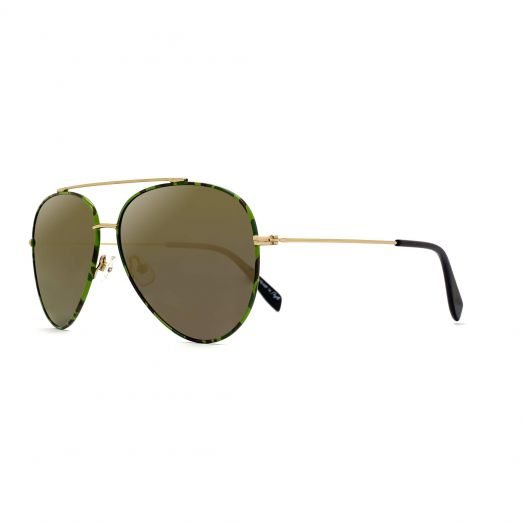 【Parent-Child Models】MyOB Hot Classics Aviator Sunglasses SMYB-1810-Green Frame With Brown Lens