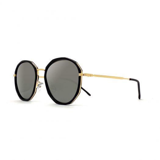 MyOB Stylish Sunglasses SMYB-1829A-Black Frame With Silver Lens