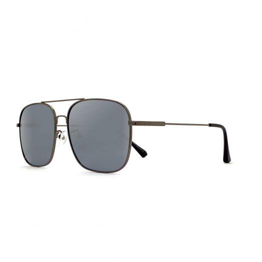 MyOB Mens Mental Stylish Sunglasses SMYB-1901A-Gunmetal Frame With Light Gray Lens