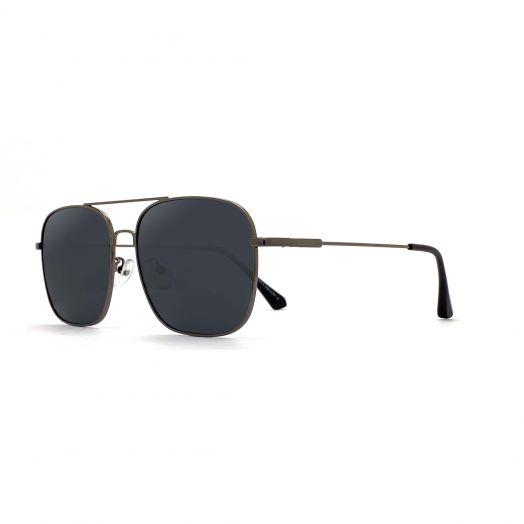 MyOB Mens Mental Stylish Sunglasses SMYB-1901A-Gunmetal Frame With Gray Lens