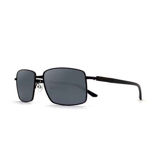 MyOB Mens Classic Stylish Sunglasses SMYB-1902A-Black Frame With Silver Lens