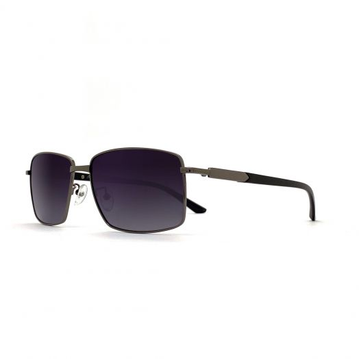 MyOB Mens Classic Stylish Sunglasses SMYB-1902A-Gunmetal Frame With Gray Lens