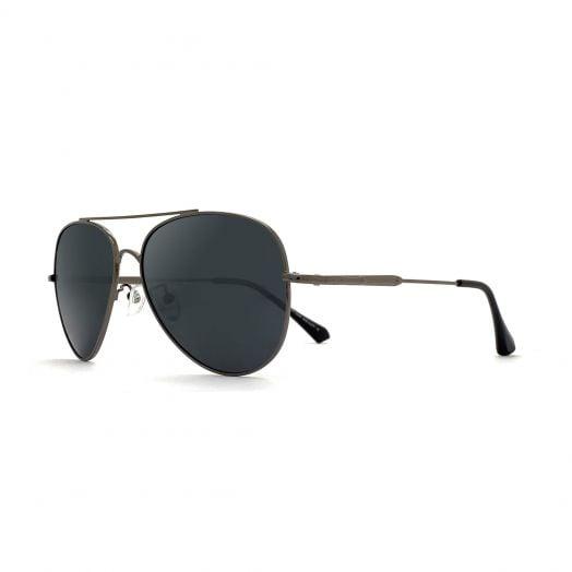 MyOB Classics Aviator Sunglasses SMYB-1909A-Gunmetal Frame With Gray Lens
