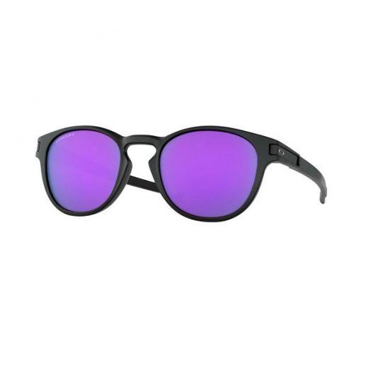 Oakley SUNGLASSES - LATCH (A) - 9349 - 53-Black Frame With Purple Lens