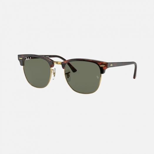 Ray-Ban CLUBMASTER 寶麗萊 太陽眼鏡 SRA1-3016F 啡色框/綠色鏡 RB3016F 990/58 55-19