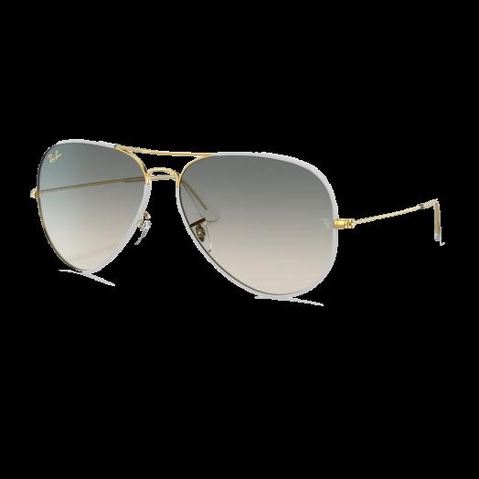 Ray-Ban  AVIATOR 太陽眼鏡 SRA1-3025J 白色框/灰色鏡 RB3025JM 919632 58-14