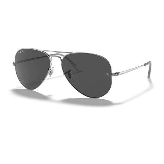 Ray-Ban AVIATOR 寶麗萊 太陽眼鏡 SRA1-3689 槍色框/灰色鏡 RB3689 004/48 58-28