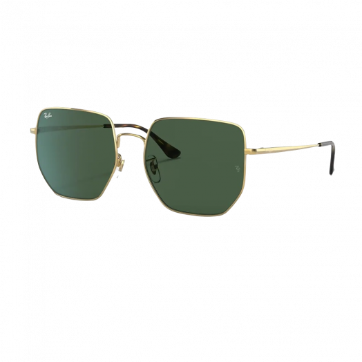 Ray-Ban Sunglasses SRA1-3764D Golden Frame With Green Lens RB3764D 001/71 59-18