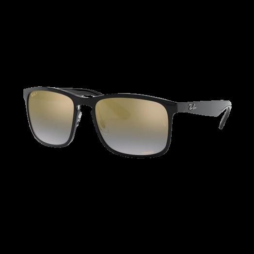 Ray-Ban Polarized Sunglasses SRA1-4264 Black Frame With Golden Lens RB4264 601/J0 58-18