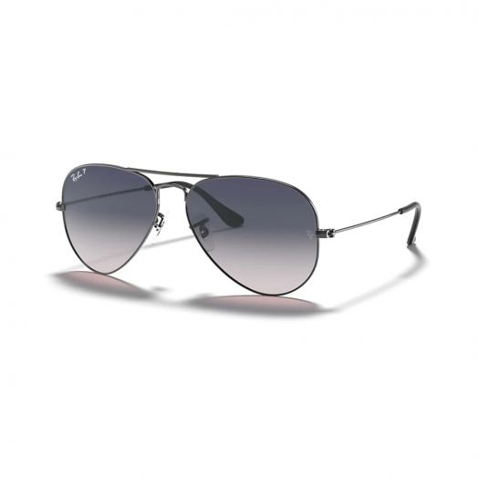 Ray-Ban  AVIATOR 寶麗萊 太陽眼鏡 SRB-3025 槍色色框/藍色鏡 RB3025 004/78 62-14