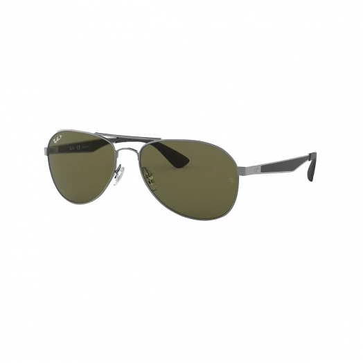 Ray-Ban 寶麗萊 太陽眼鏡 SRB-3549 槍色框/綠色鏡 RB3549 004/9A 61-16