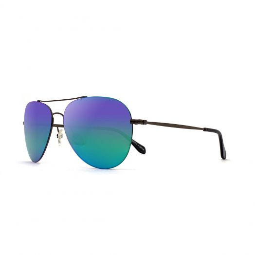 SOLVIL ET TITUS Classic Aviator Mirrored Lens Sunglasses STS-1707P-Green