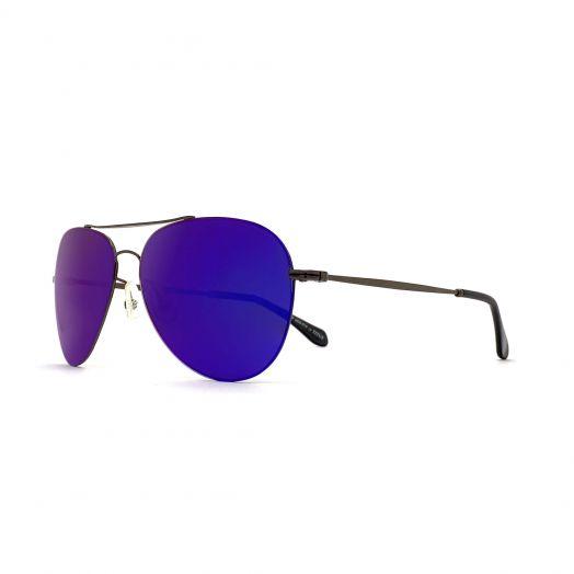 SOLVIL ET TITUS Classic Aviator Mirrored Lens Sunglasses STS-1707P-Purple