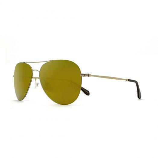SOLVIL ET TITUS Classic Aviator Mirrored Lens Sunglasses STS-1707P-Gold