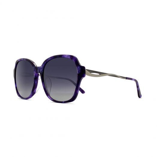 SOLVIL ET TITUS Stylish Sunglasses STS-1901-Purple Tortoiseshell Frame With Gray Lens