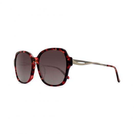 SOLVIL ET TITUS Stylish Sunglasses STS-1901-Red Tortoiseshell Frame With Brown Lens