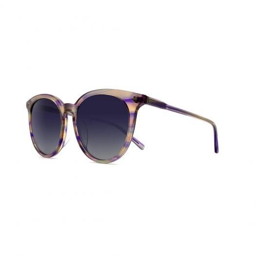 SOLVIL ET TITUS Stylish Sunglasses STS-1918-Purple Gray Frame With Gray Lens